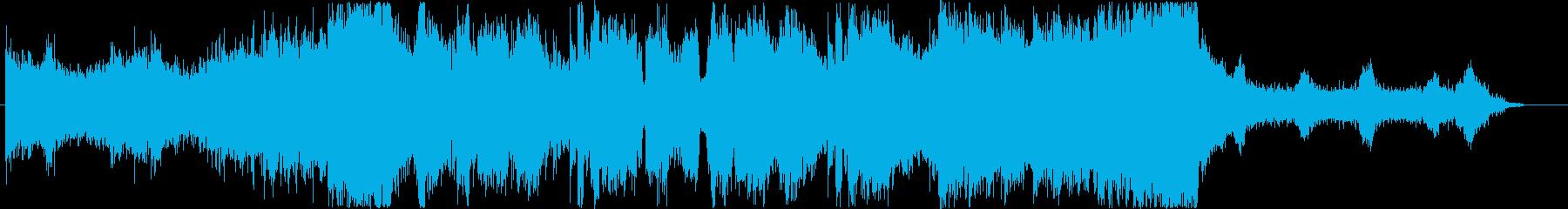 ダブステップよりのEDMの再生済みの波形