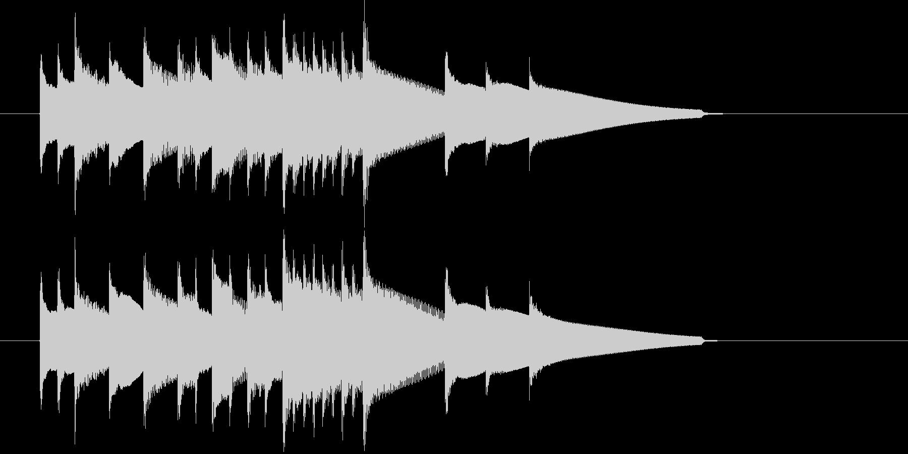チェンバロによる場面転換・アイキャッチの未再生の波形