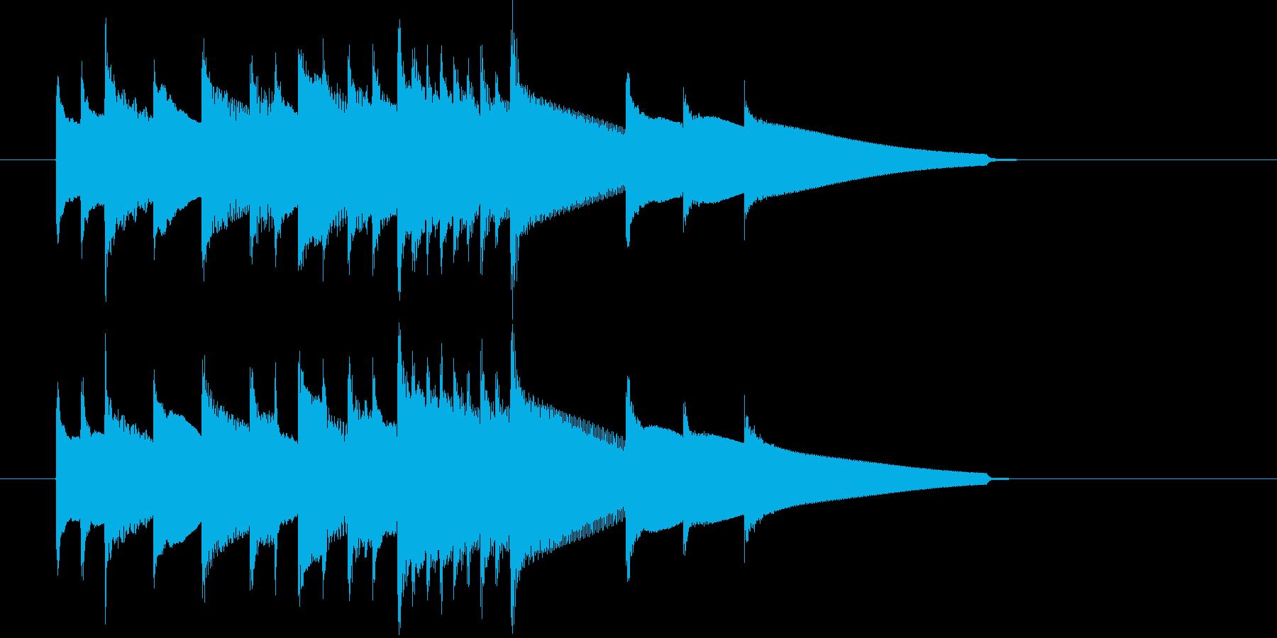 チェンバロによる場面転換・アイキャッチの再生済みの波形