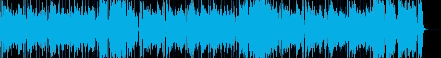 明るくだらしないバリトンサックスとホーンの再生済みの波形