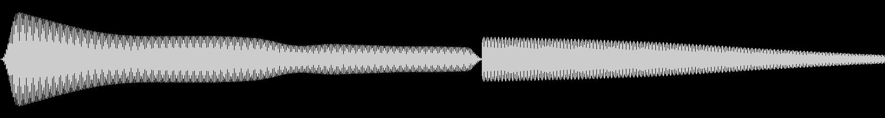 汎用的なシステム音(ピッ)の未再生の波形