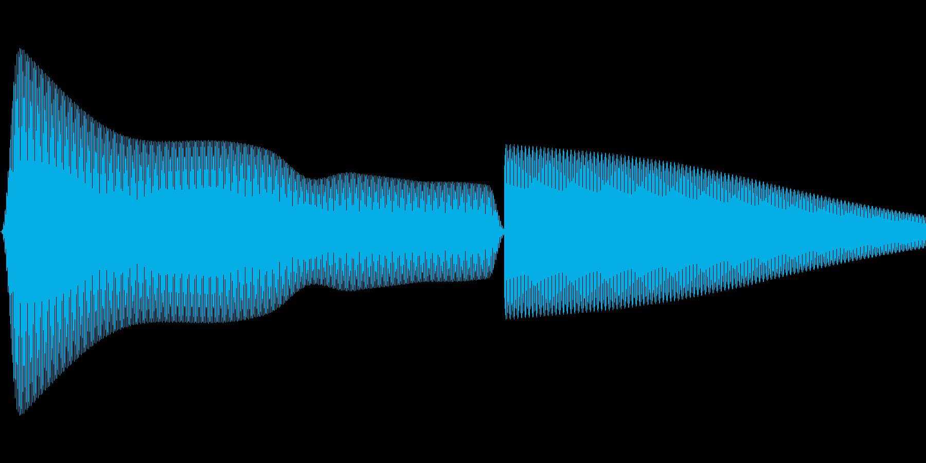 汎用的なシステム音(ピッ)の再生済みの波形
