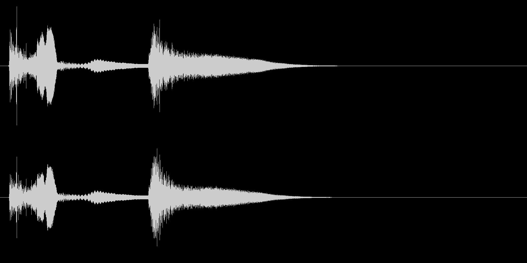 効果音 ネジが飛ぶ音の未再生の波形