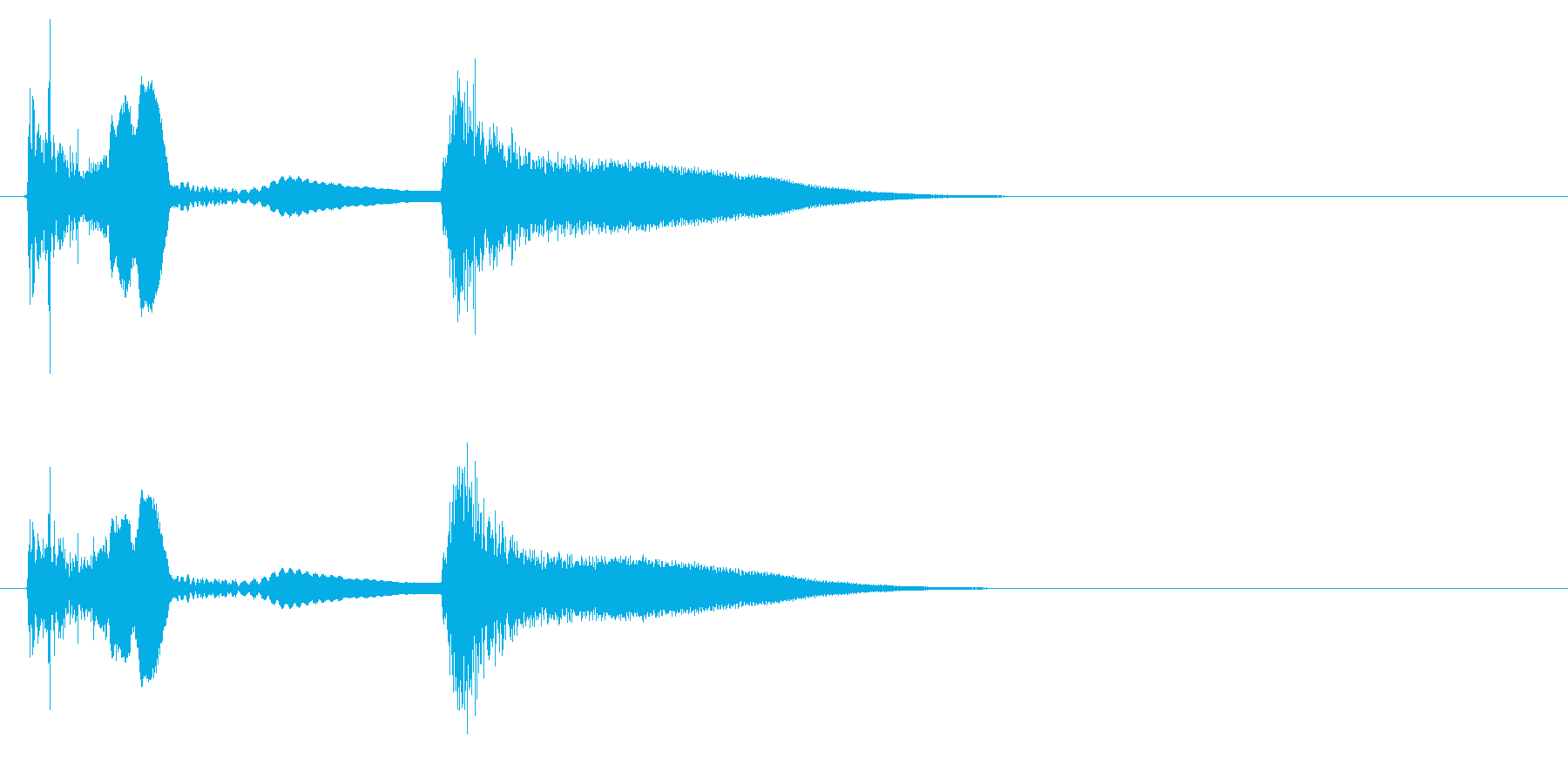 効果音 ネジが飛ぶ音の再生済みの波形