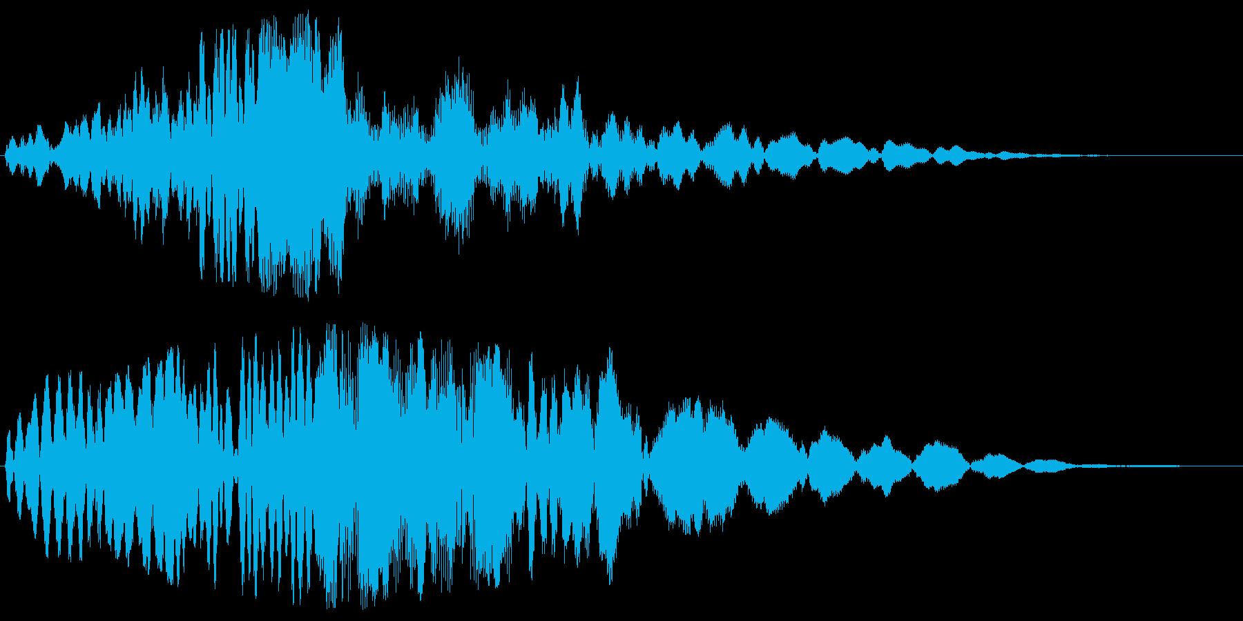 宇宙を思わせる近未来的な音の再生済みの波形