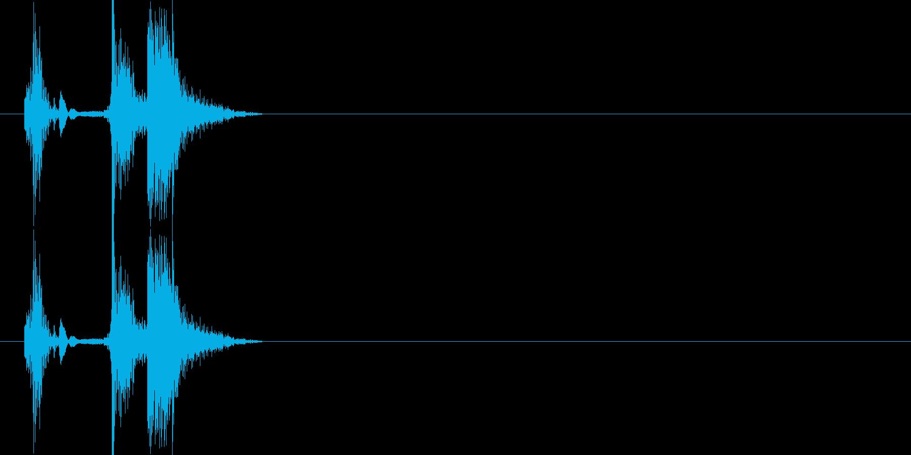 カチャの再生済みの波形