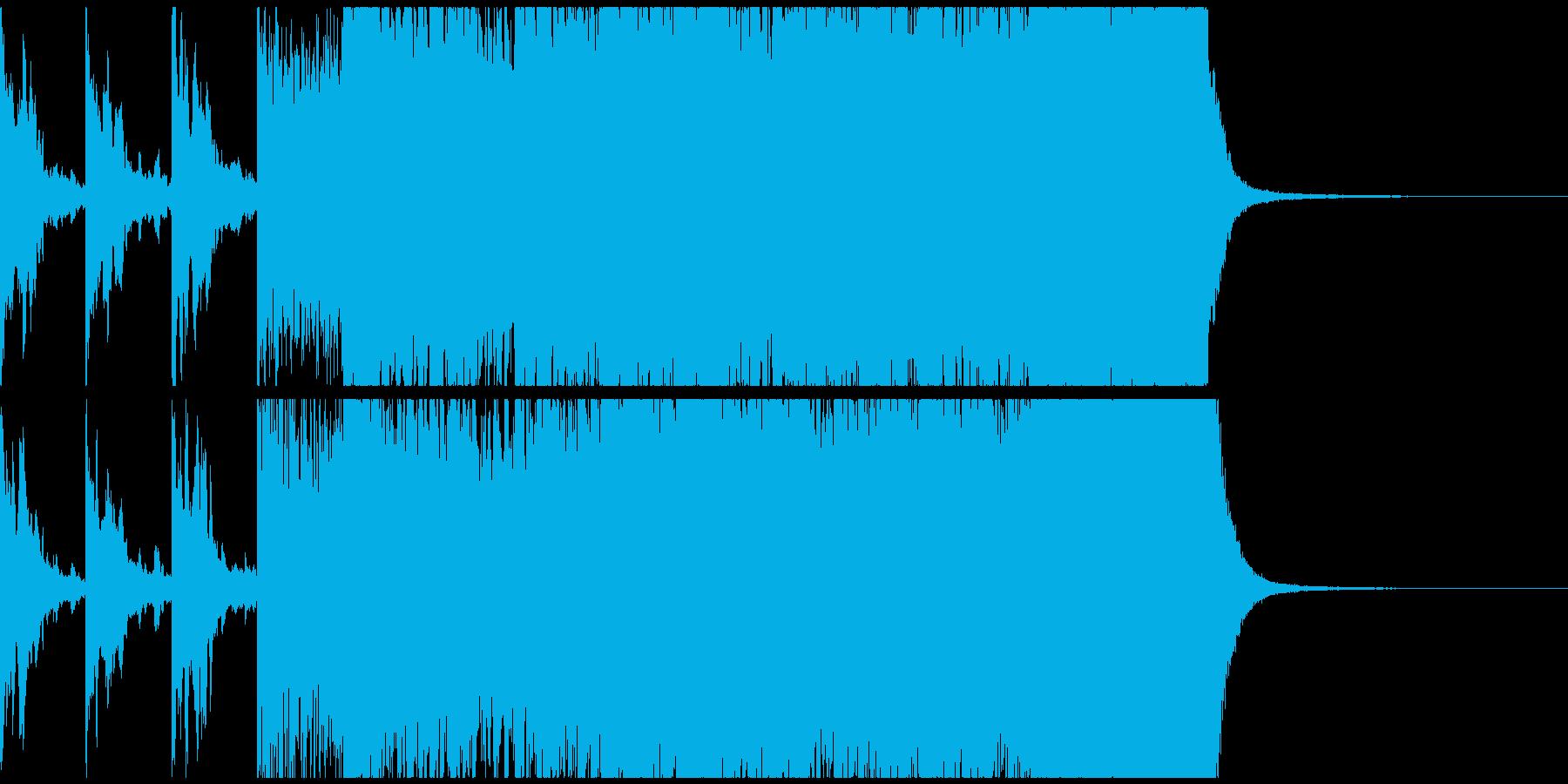 ストリングスとピアノが印象的な曲の再生済みの波形