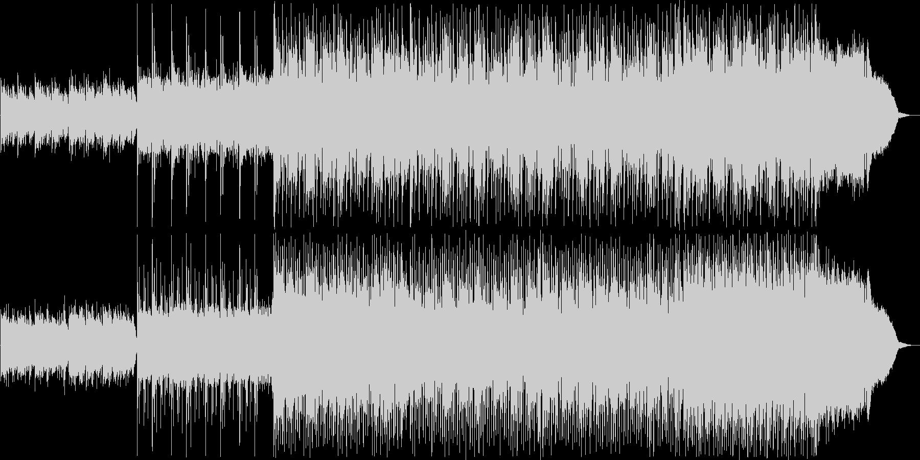 ピアノテクノポップスの未再生の波形