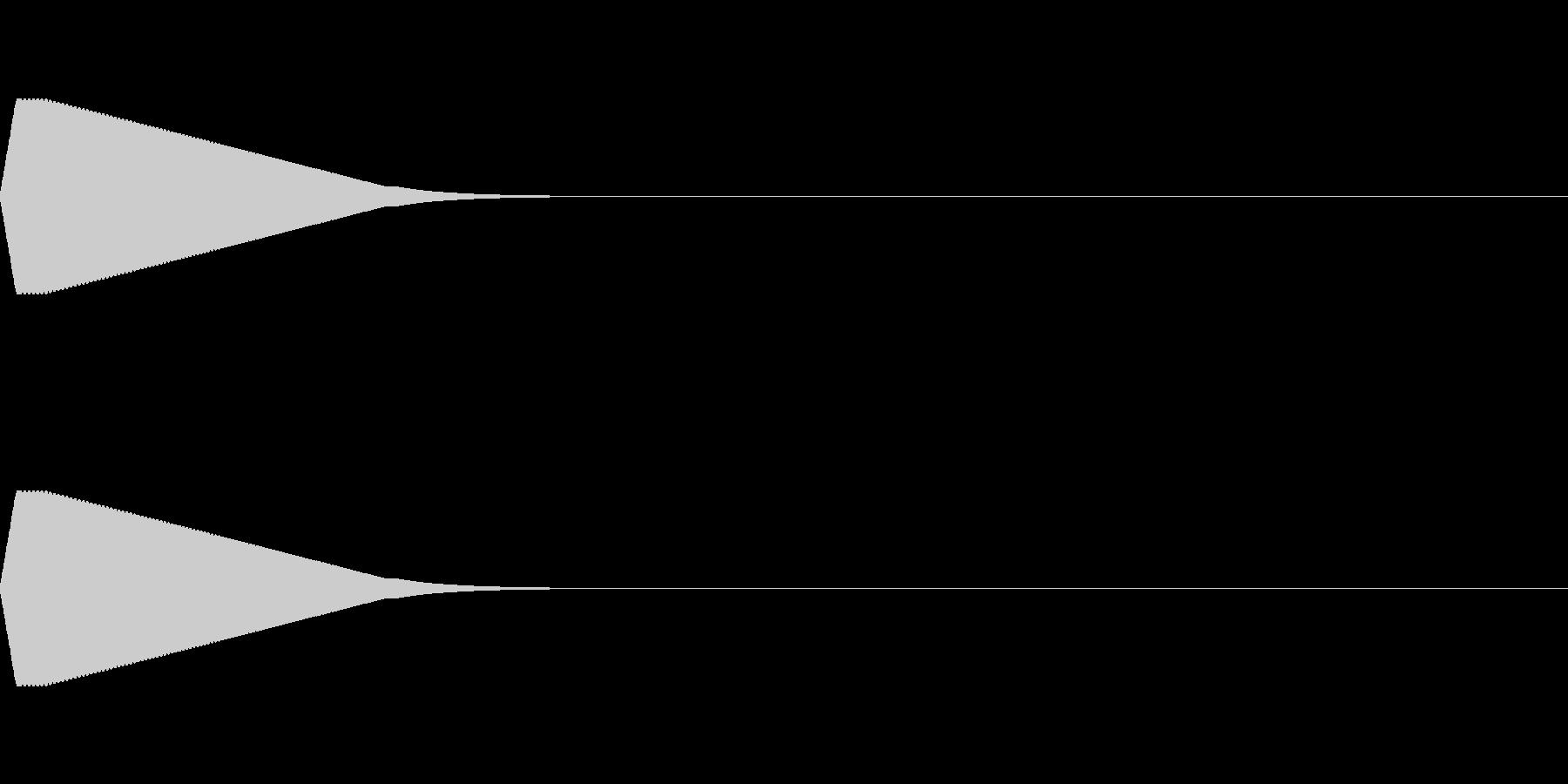 ピーン(ゲームの効果音、選択音)の未再生の波形