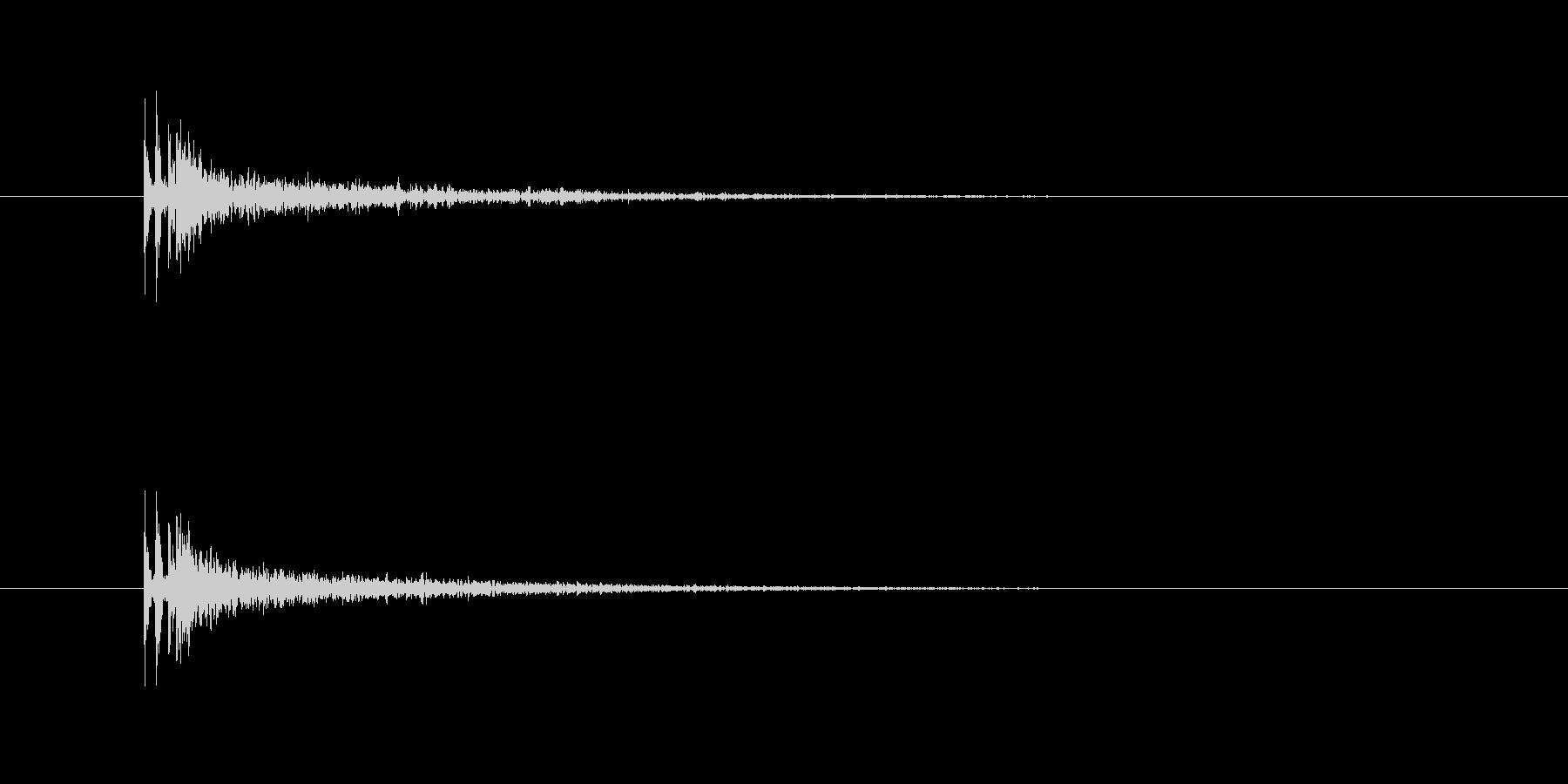 銃声(残響有り)の未再生の波形