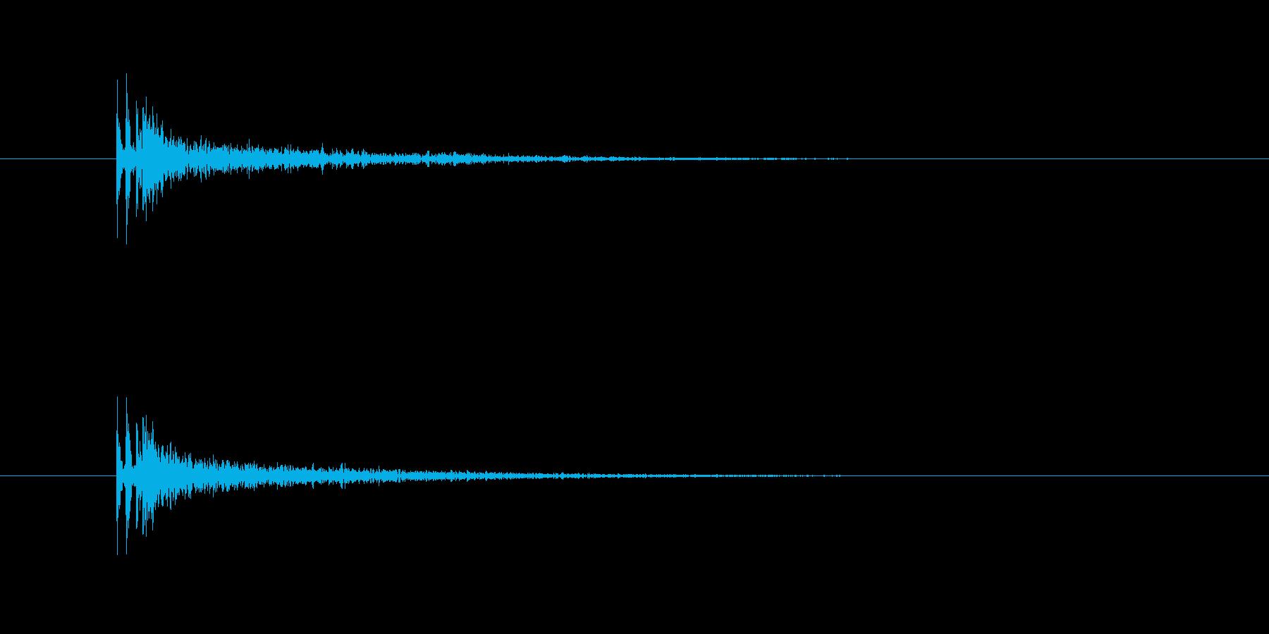 銃声(残響有り)の再生済みの波形