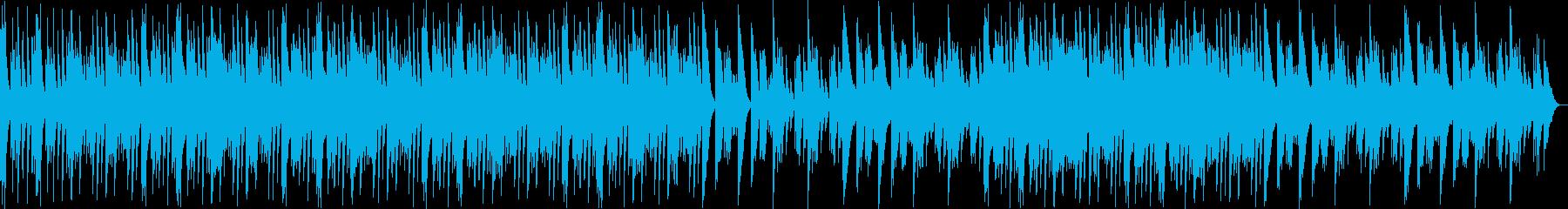 ウェット感のある優しいシンセサイザーの音の再生済みの波形
