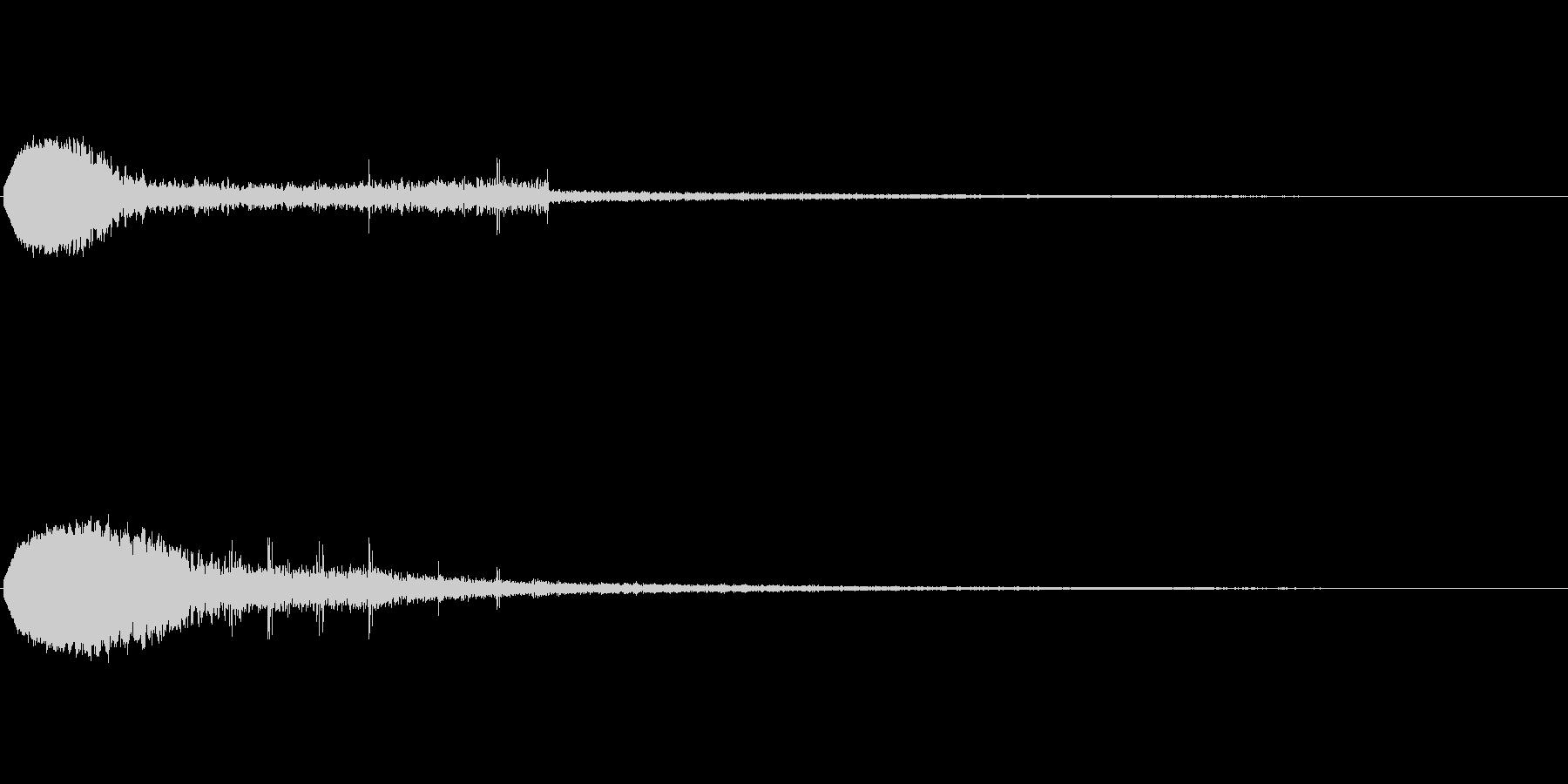 キュイーン(ゲーム・アプリ等の決定音)の未再生の波形