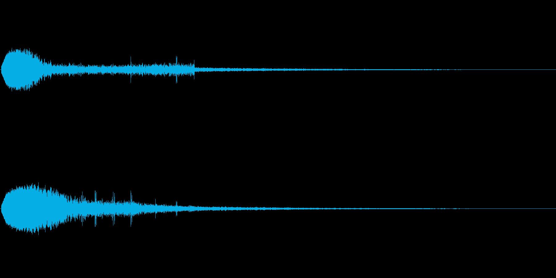 キュイーン(ゲーム・アプリ等の決定音)の再生済みの波形