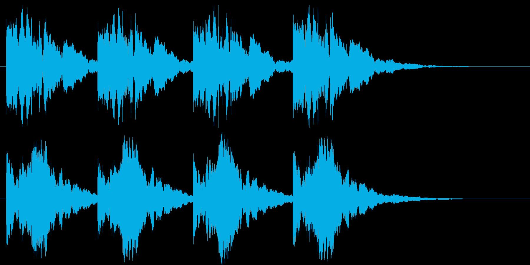 推理のシーンです。の再生済みの波形