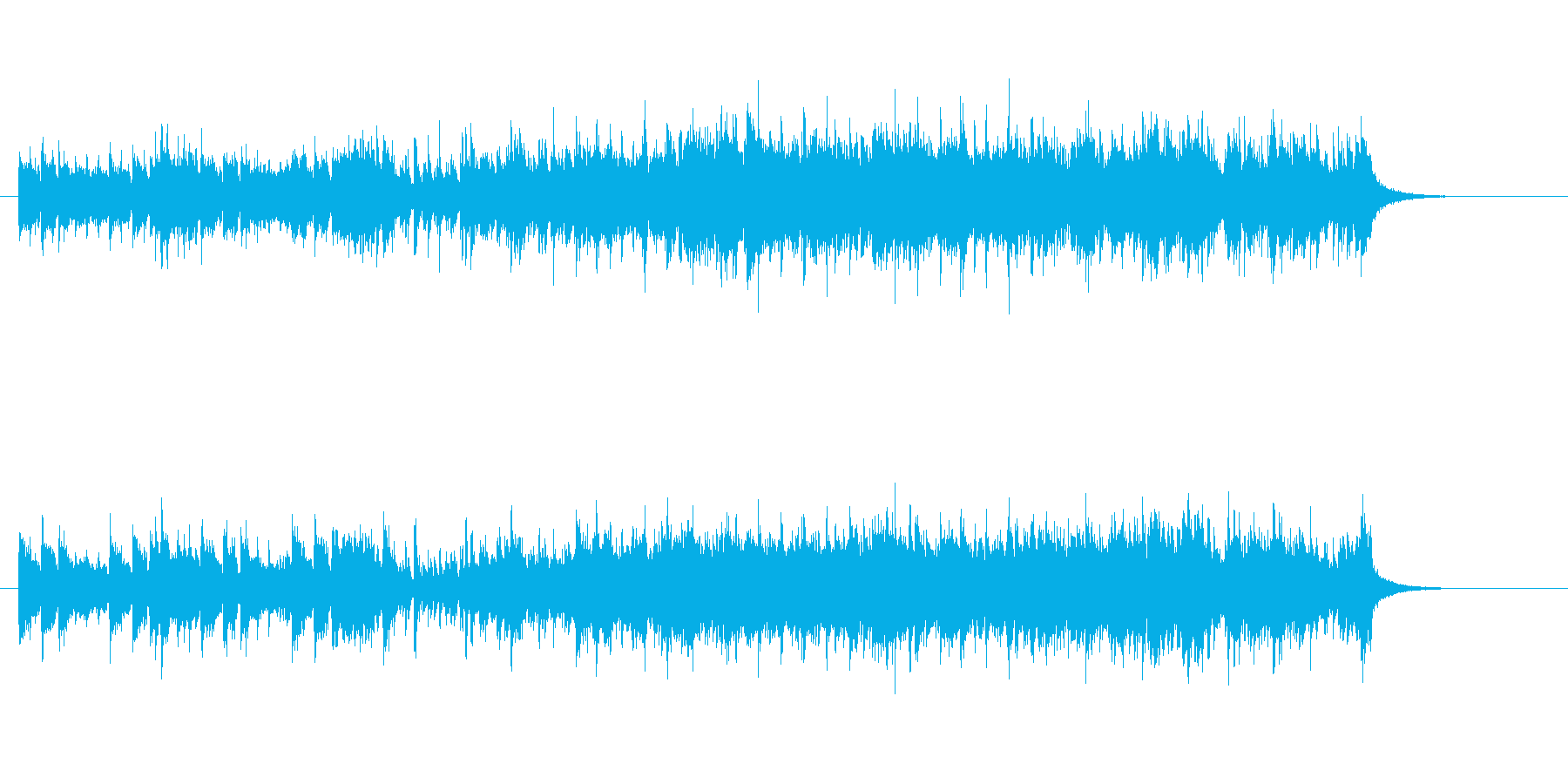 スピード感あふれるピアノ・ソロの再生済みの波形