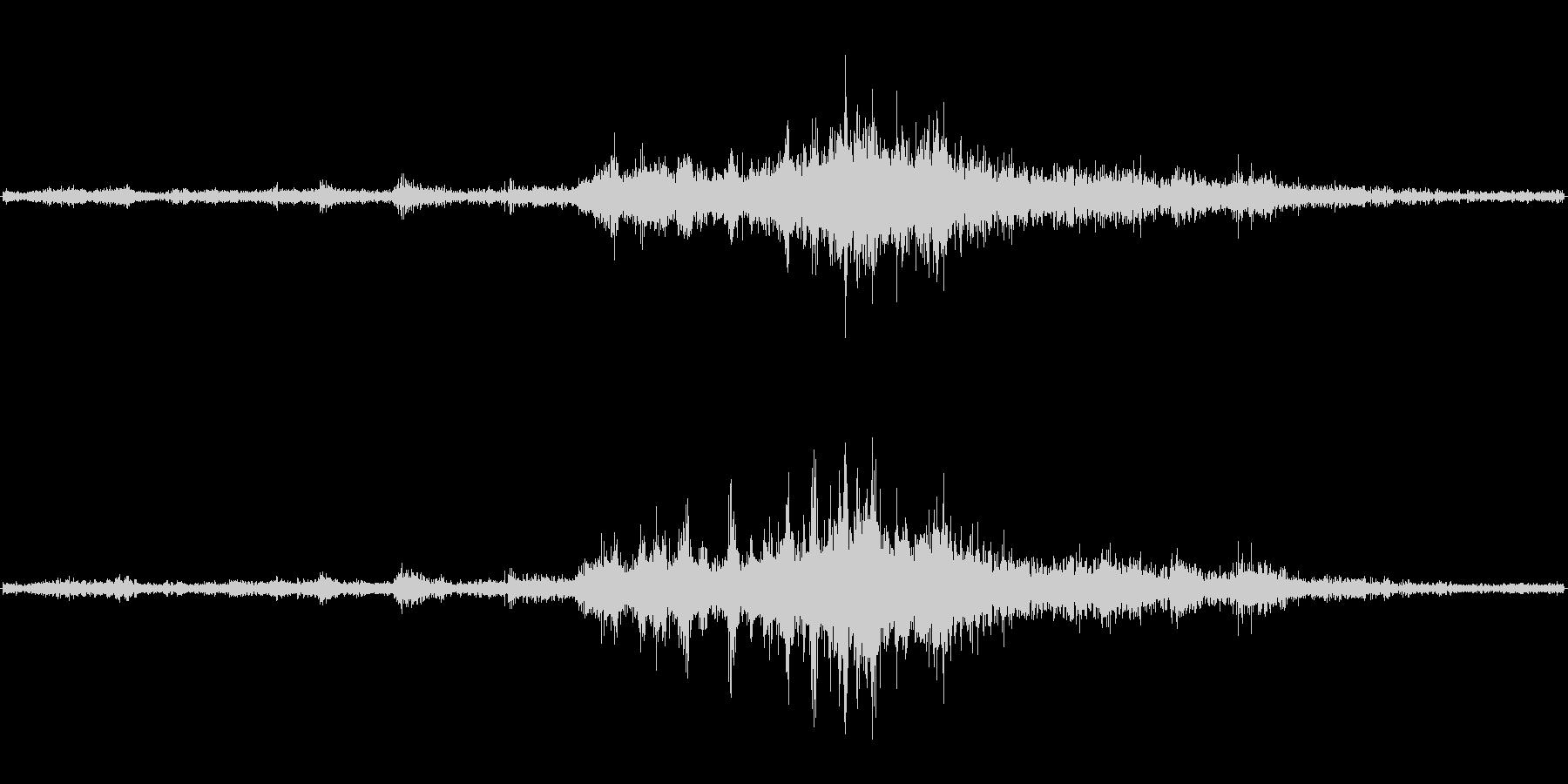 バイノーラル録音戦闘機2の未再生の波形