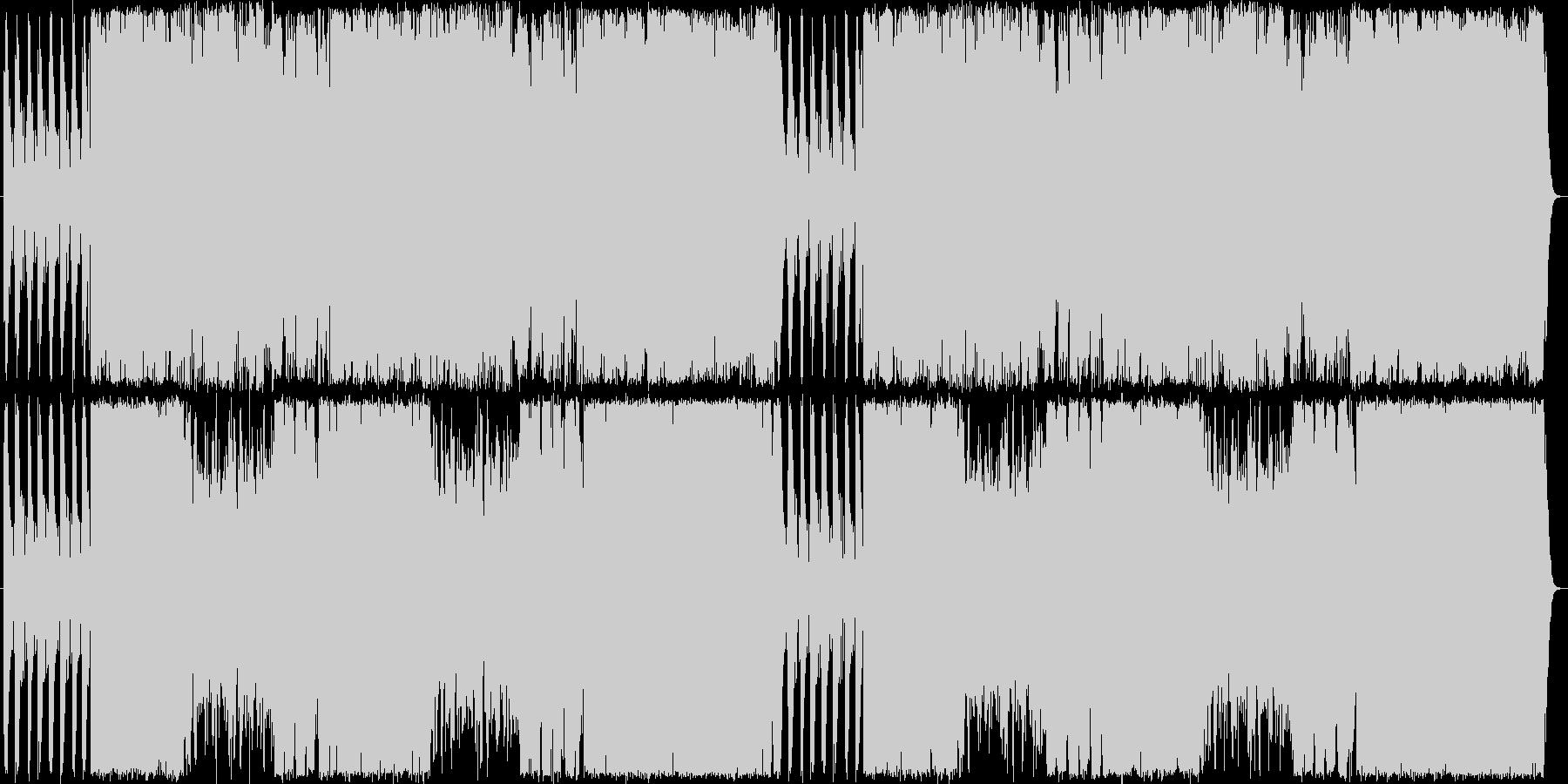 駆け抜ける和のBGMの未再生の波形
