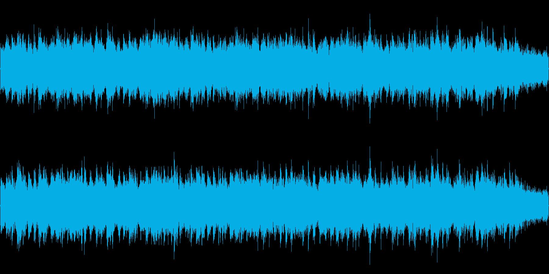 ゆったりと流れる曲の再生済みの波形