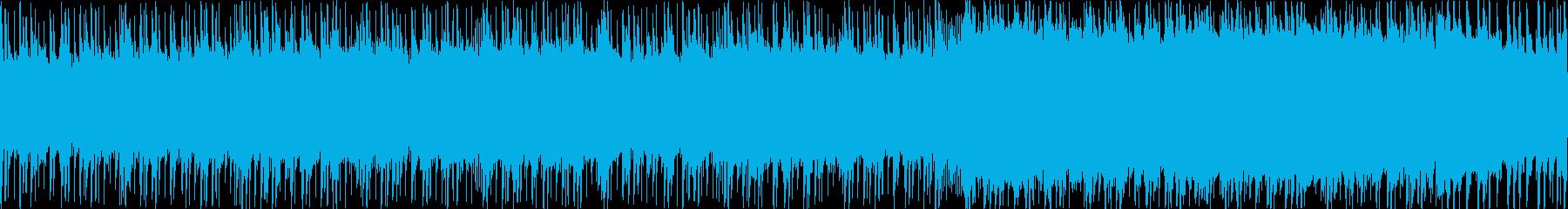 風を切るイメージのBGM(ループ)の再生済みの波形