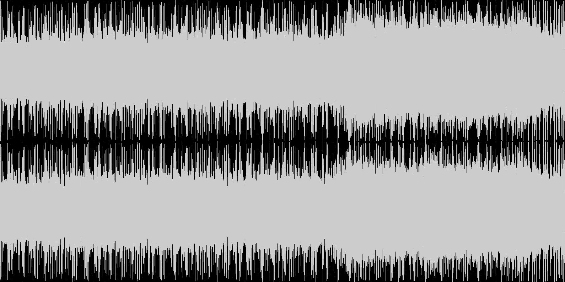 風を切るイメージのBGM(ループ)の未再生の波形