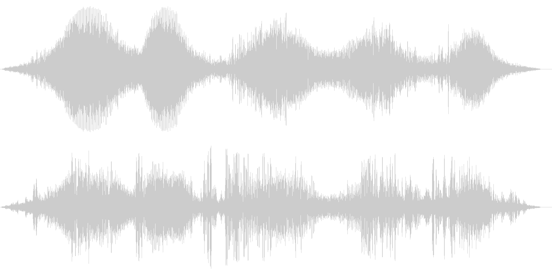 テレビ・ラジオのノイズの未再生の波形