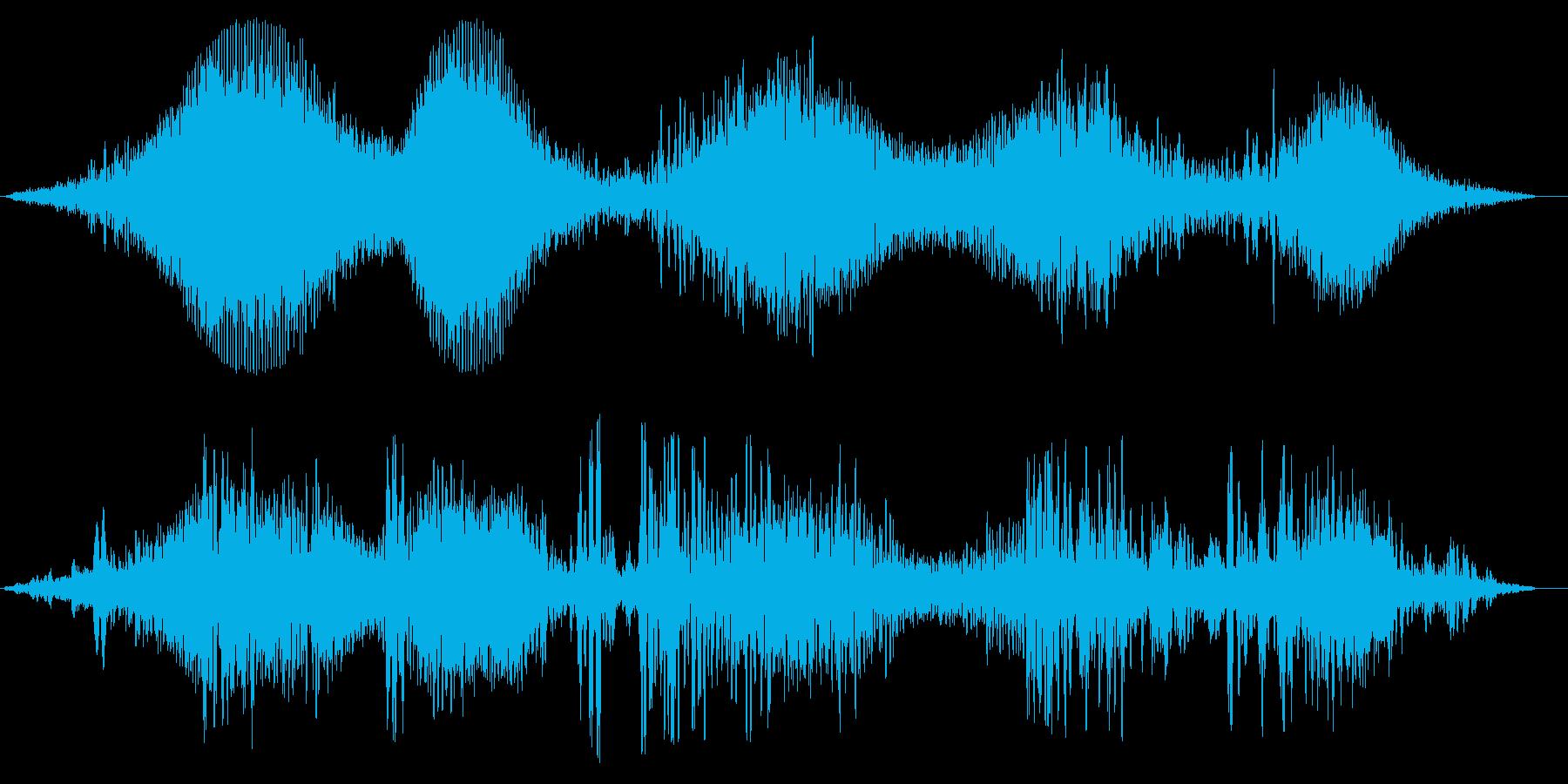 テレビ・ラジオのノイズの再生済みの波形