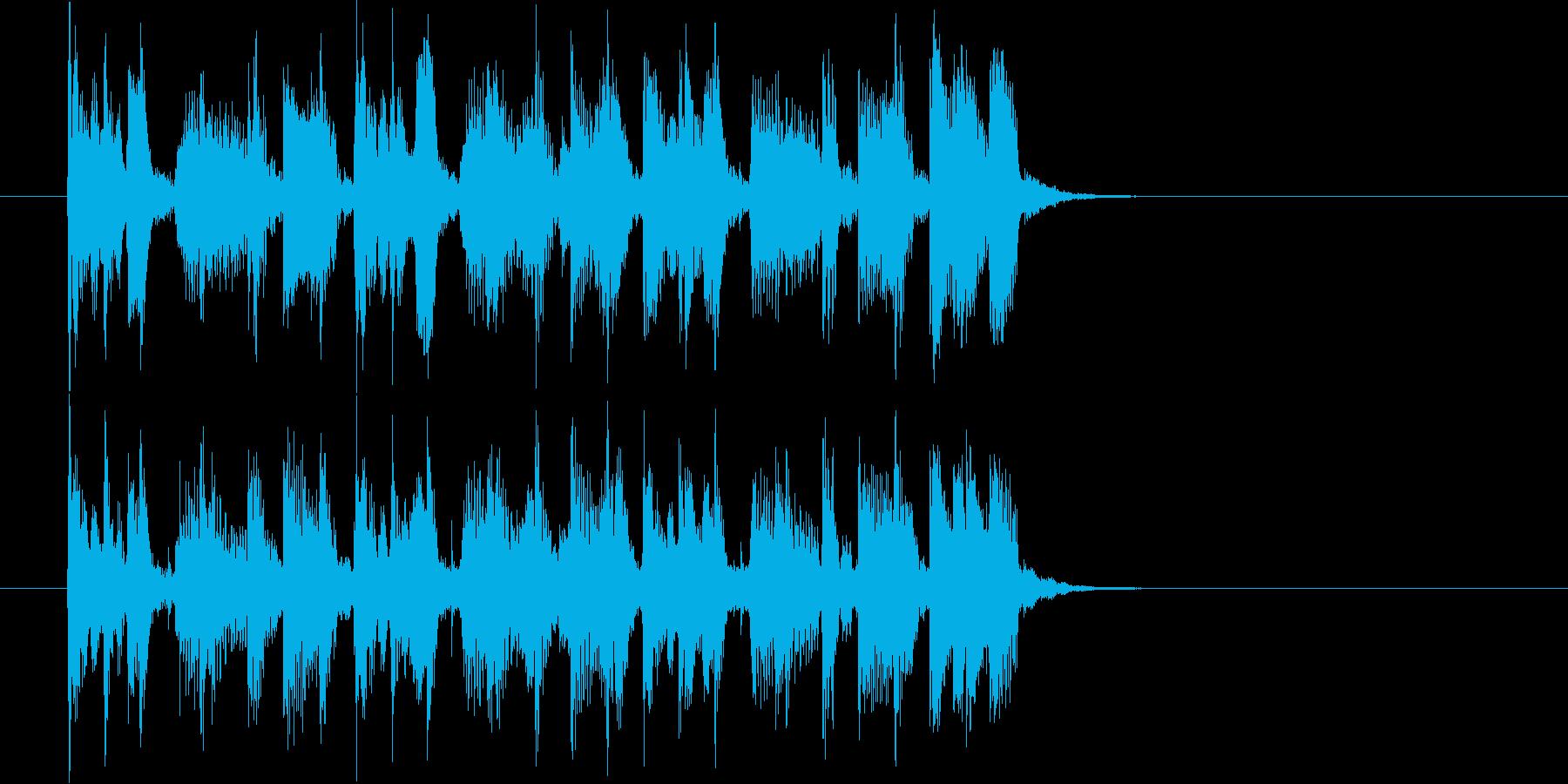 何かを追跡している雰囲気のポップジングルの再生済みの波形