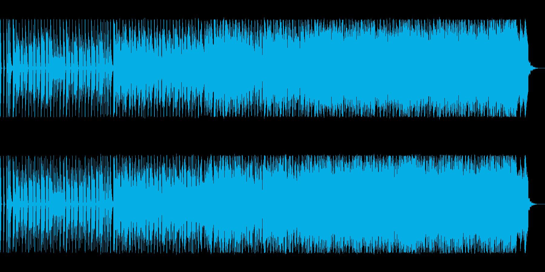 とてもリズムに乗りやすいテクノの再生済みの波形