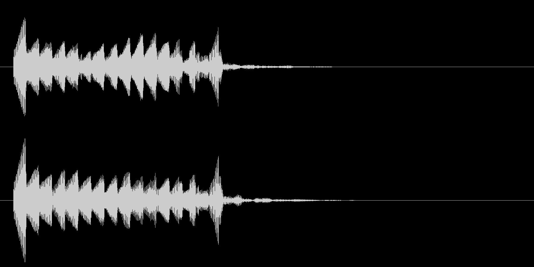 デッデッデッデッデッデッデッの未再生の波形
