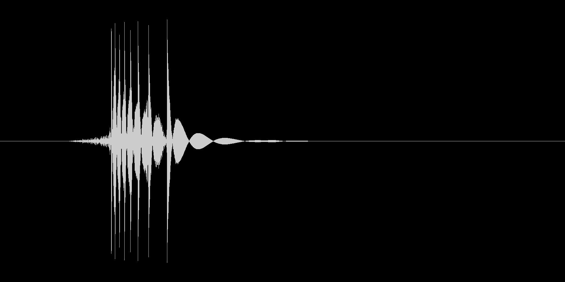 ゲーム(ファミコン風)ヒット音_028の未再生の波形