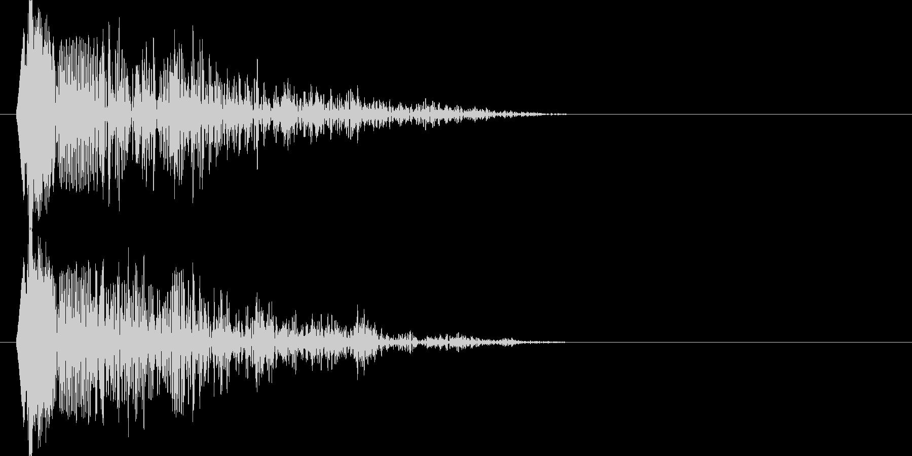 ドウウウーン(衝撃波)の未再生の波形