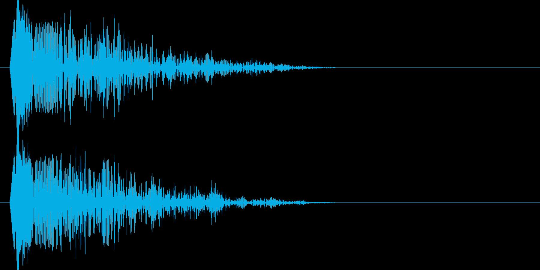 ドウウウーン(衝撃波)の再生済みの波形