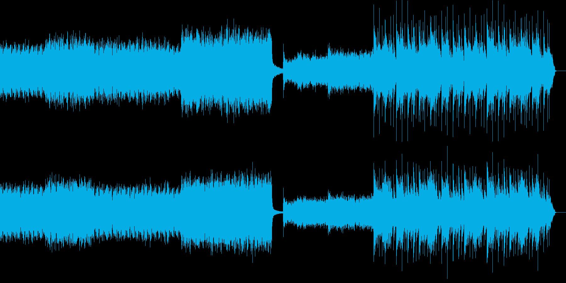 暗くそして深くダークな曲の再生済みの波形