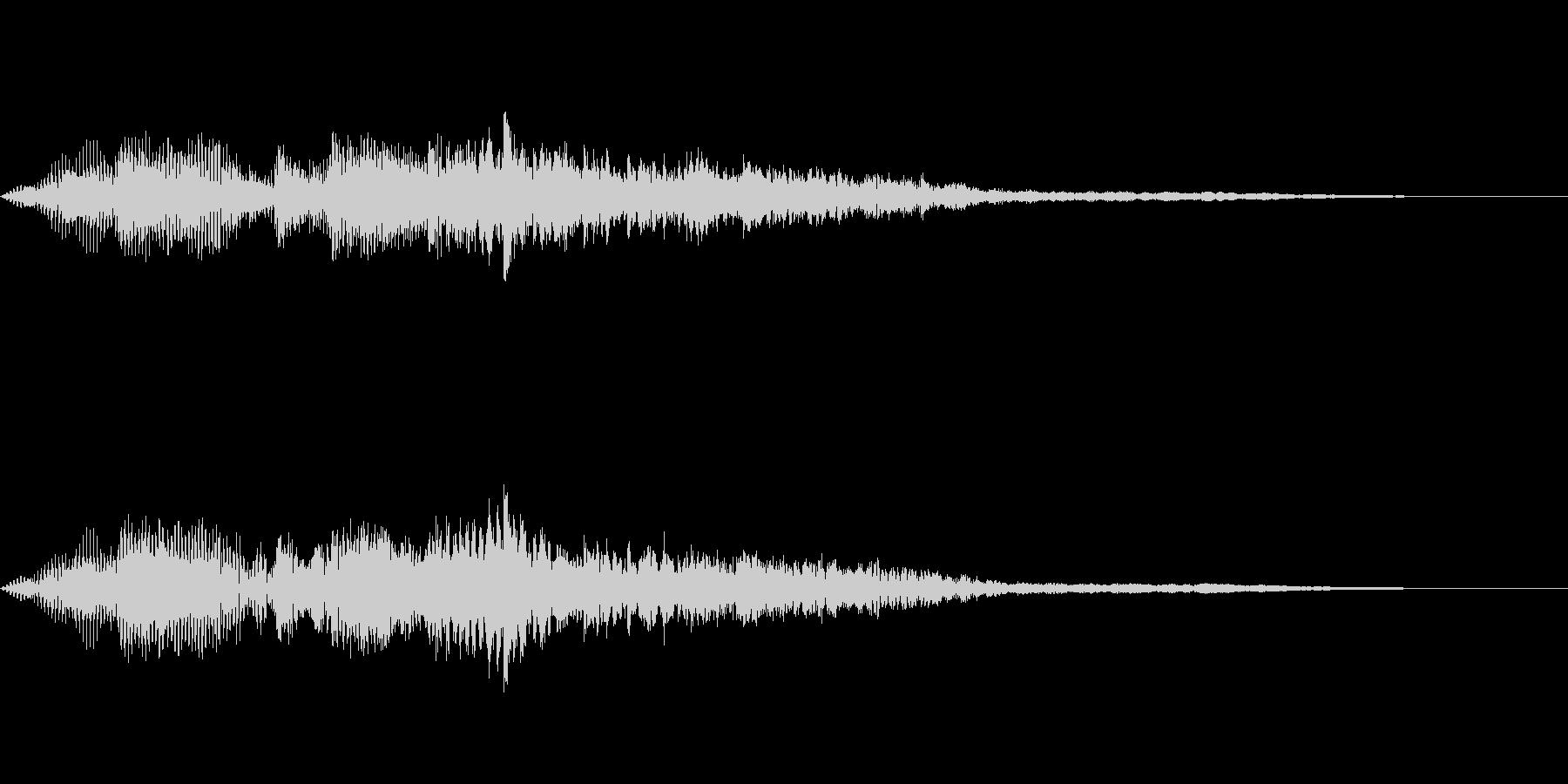 【SE 効果音】奇妙な音6の未再生の波形