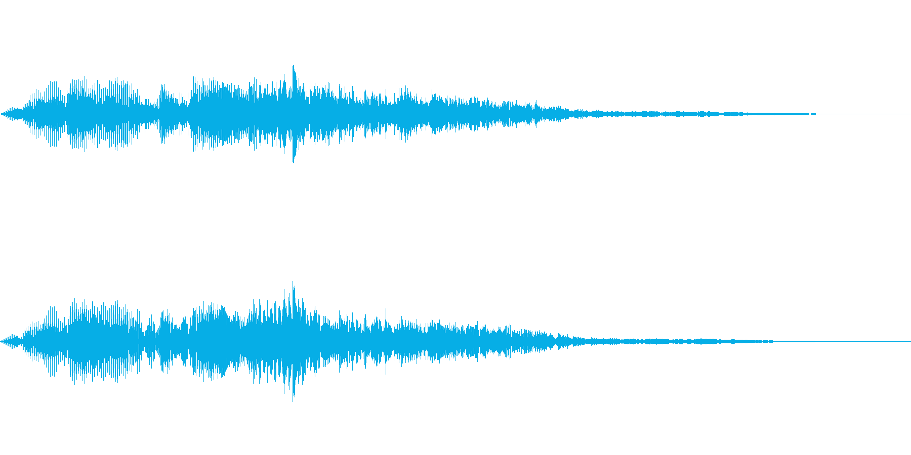 【SE 効果音】奇妙な音6の再生済みの波形