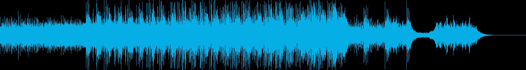 幻想的で宇宙的な、工場系機械的サウンドの再生済みの波形