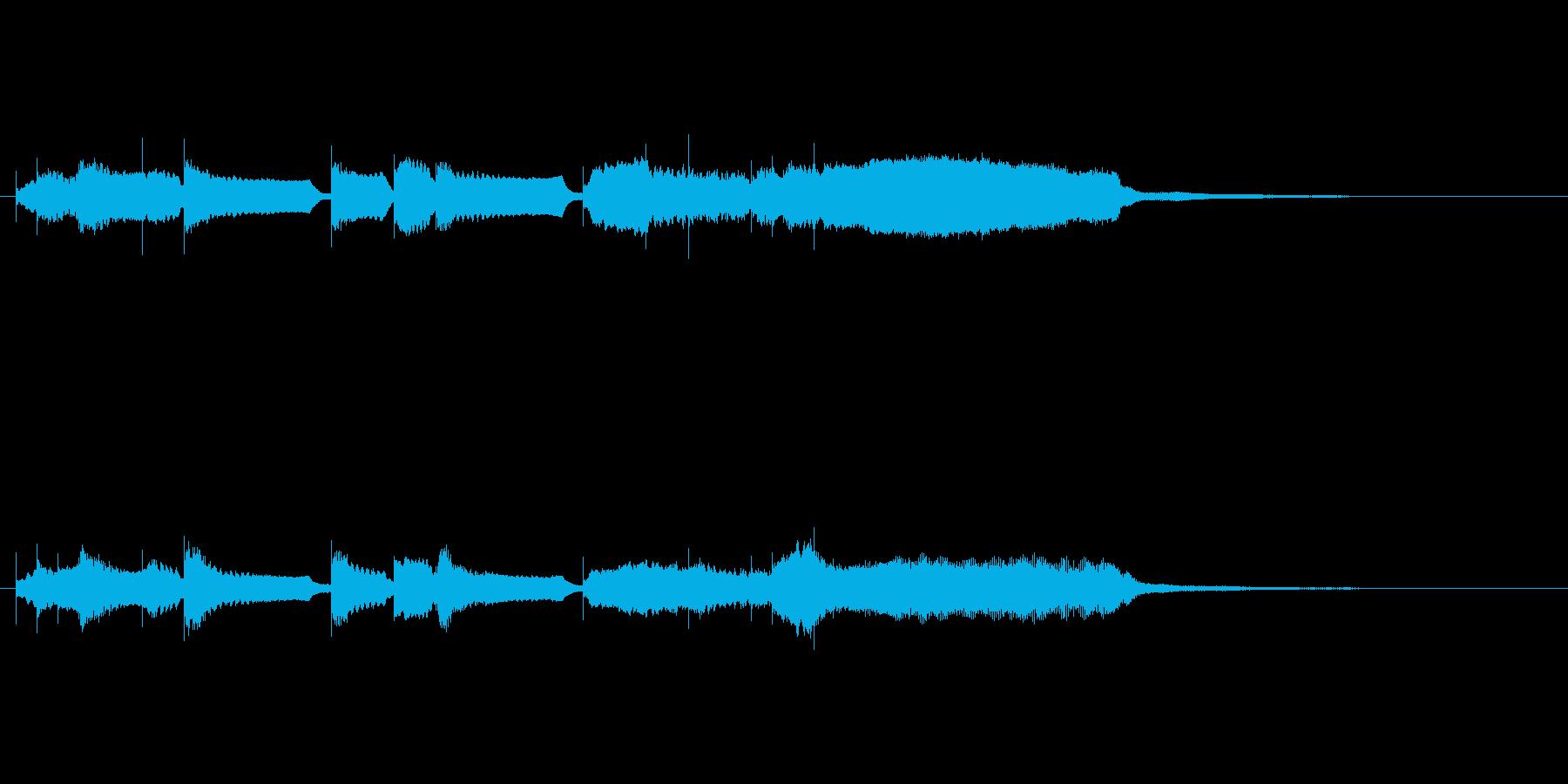 オーボエとストリングスの爽やかなジングルの再生済みの波形