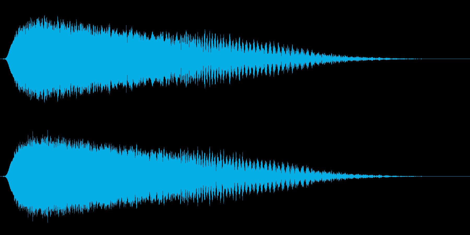 ヒューン(緩やかな落下音・コミカル)の再生済みの波形