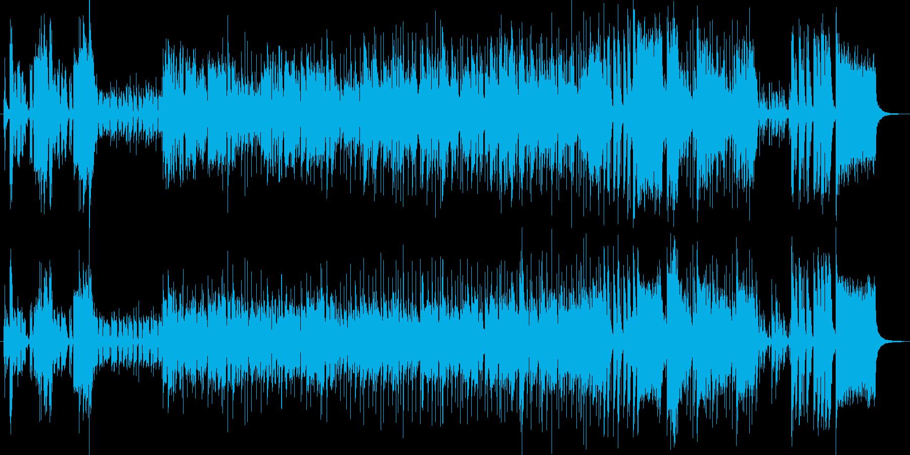 スパイ物テーマをイメージしたジャズの再生済みの波形