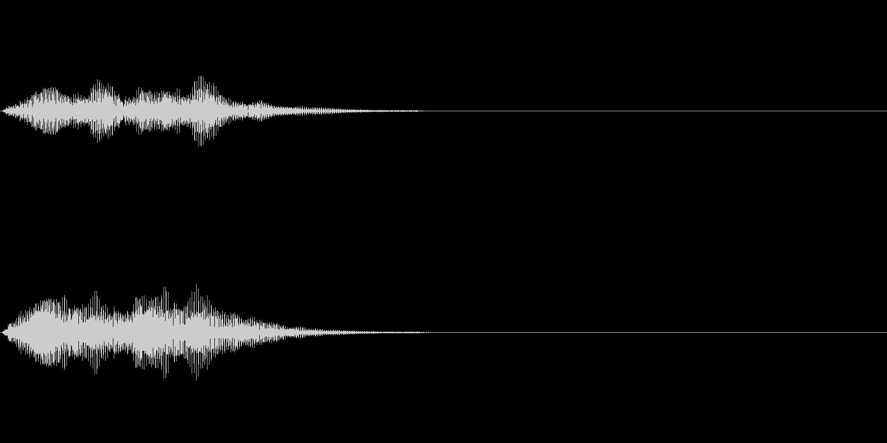 正解音や効果音。てろてろ♪(低い)の未再生の波形