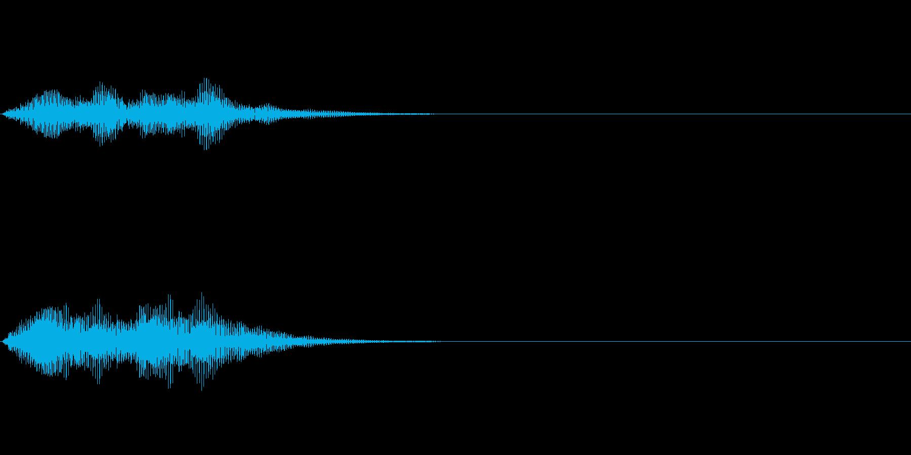 正解音や効果音。てろてろ♪(低い)の再生済みの波形