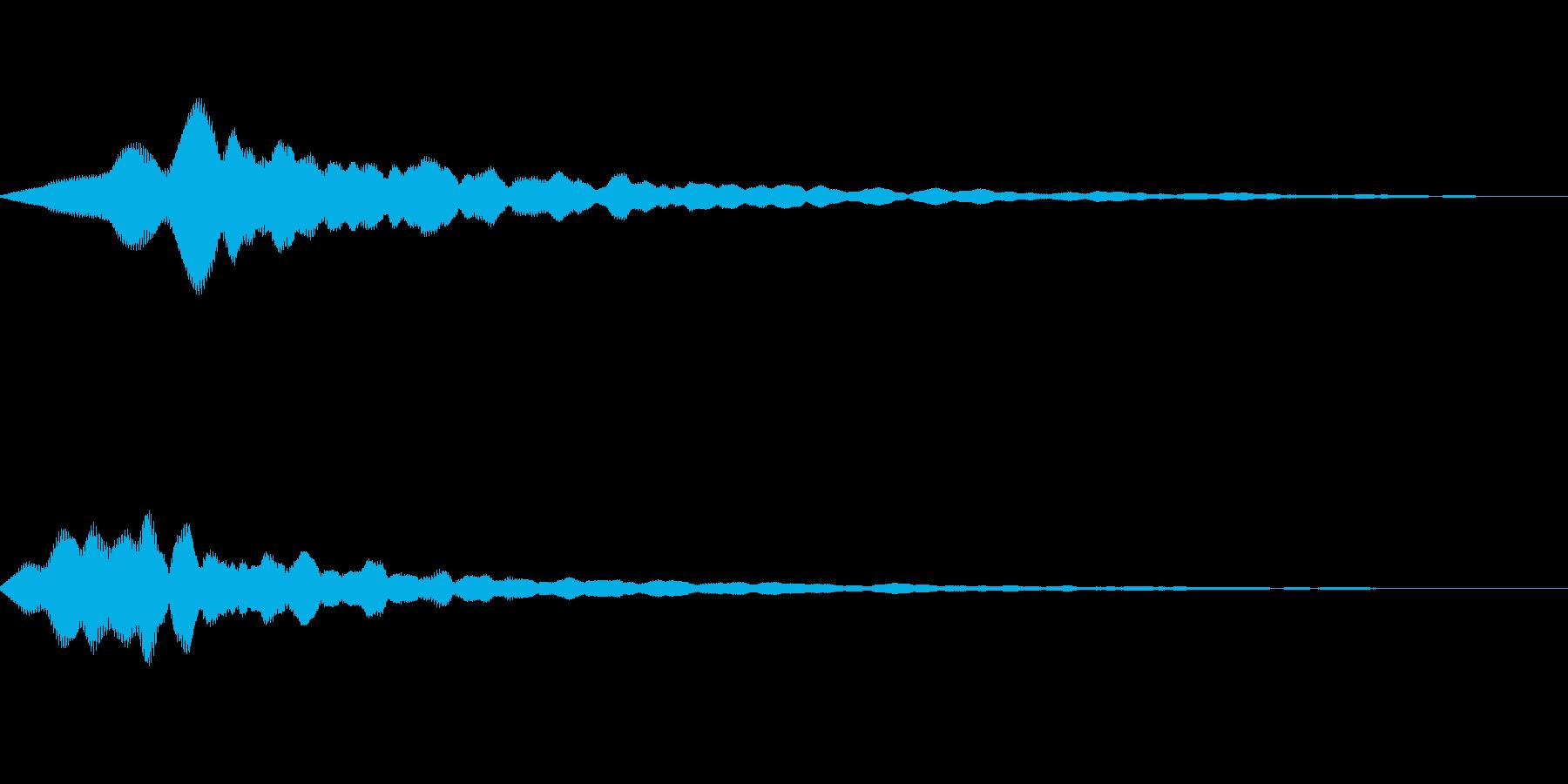 ピーン 光 の再生済みの波形