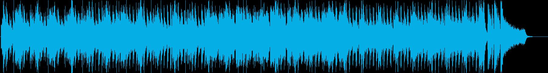 ピアノの軽快なポップスの再生済みの波形