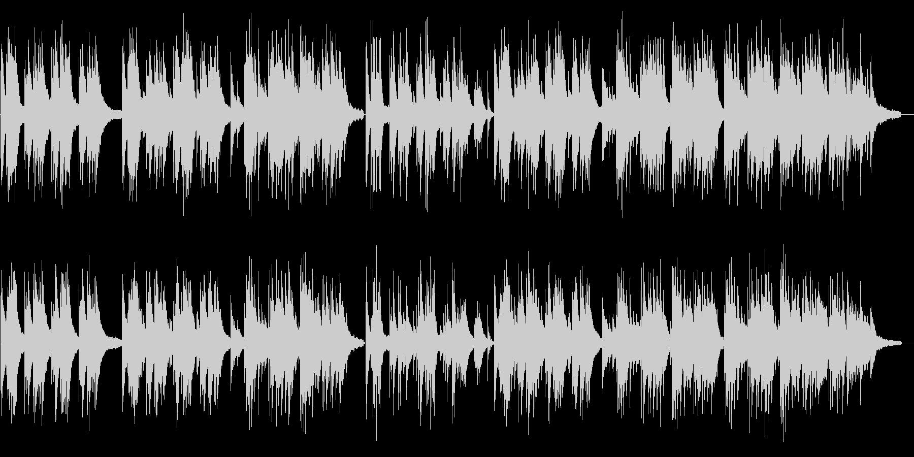 センチメンタルかつムード溢れるピアノの未再生の波形