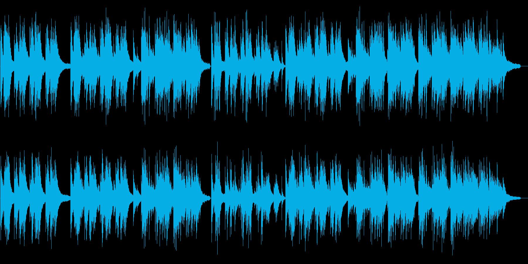 センチメンタルかつムード溢れるピアノの再生済みの波形