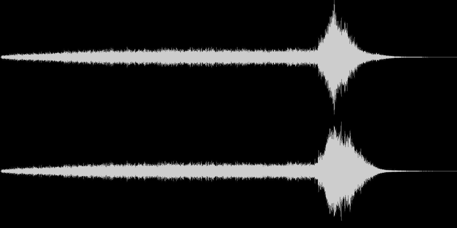 ワープ音(宇宙船、SFイメージ)2の未再生の波形