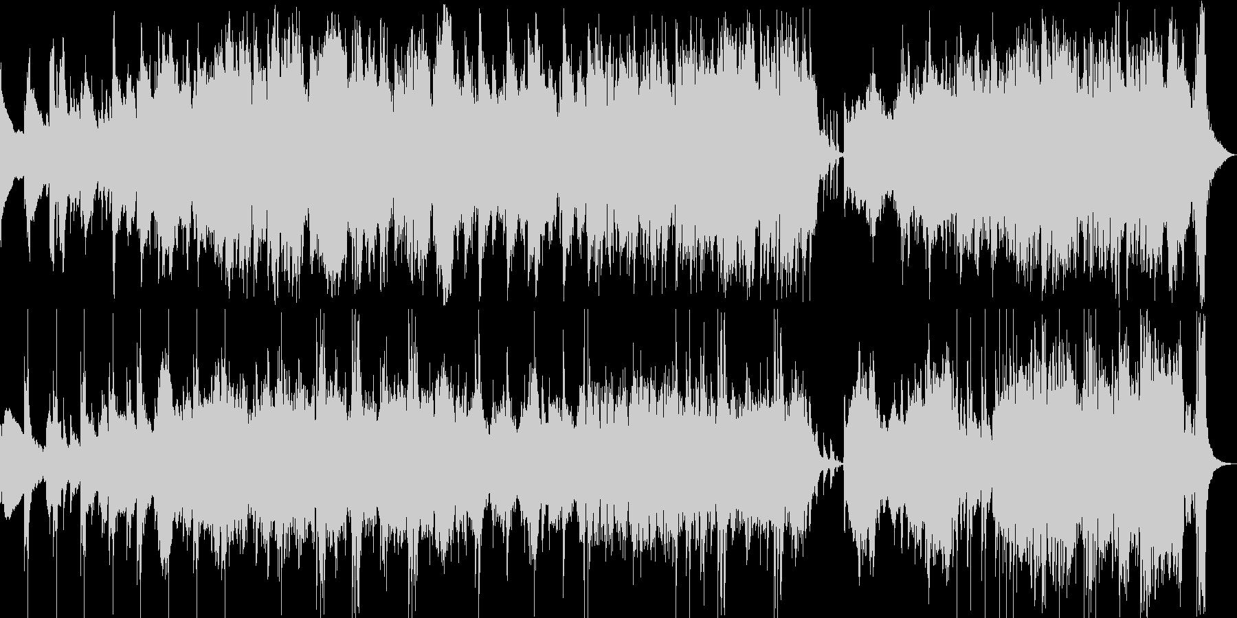 躍動感のあるダブルジグの未再生の波形