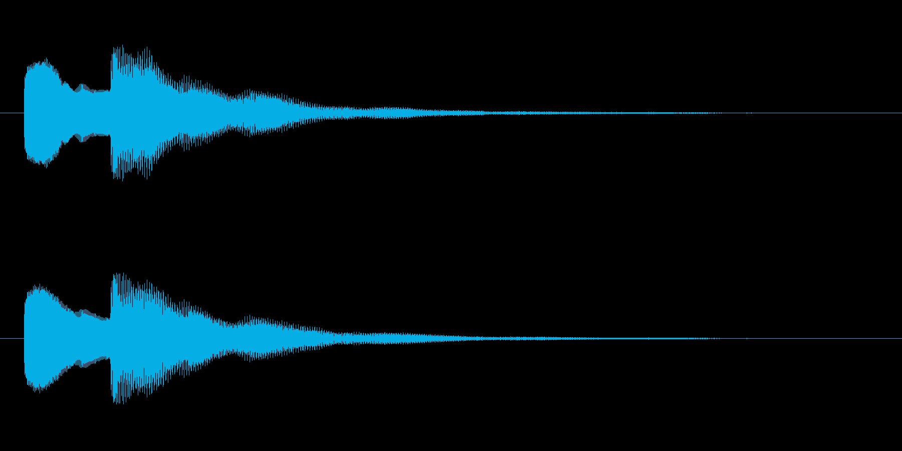 【早押しボタン01-3】の再生済みの波形