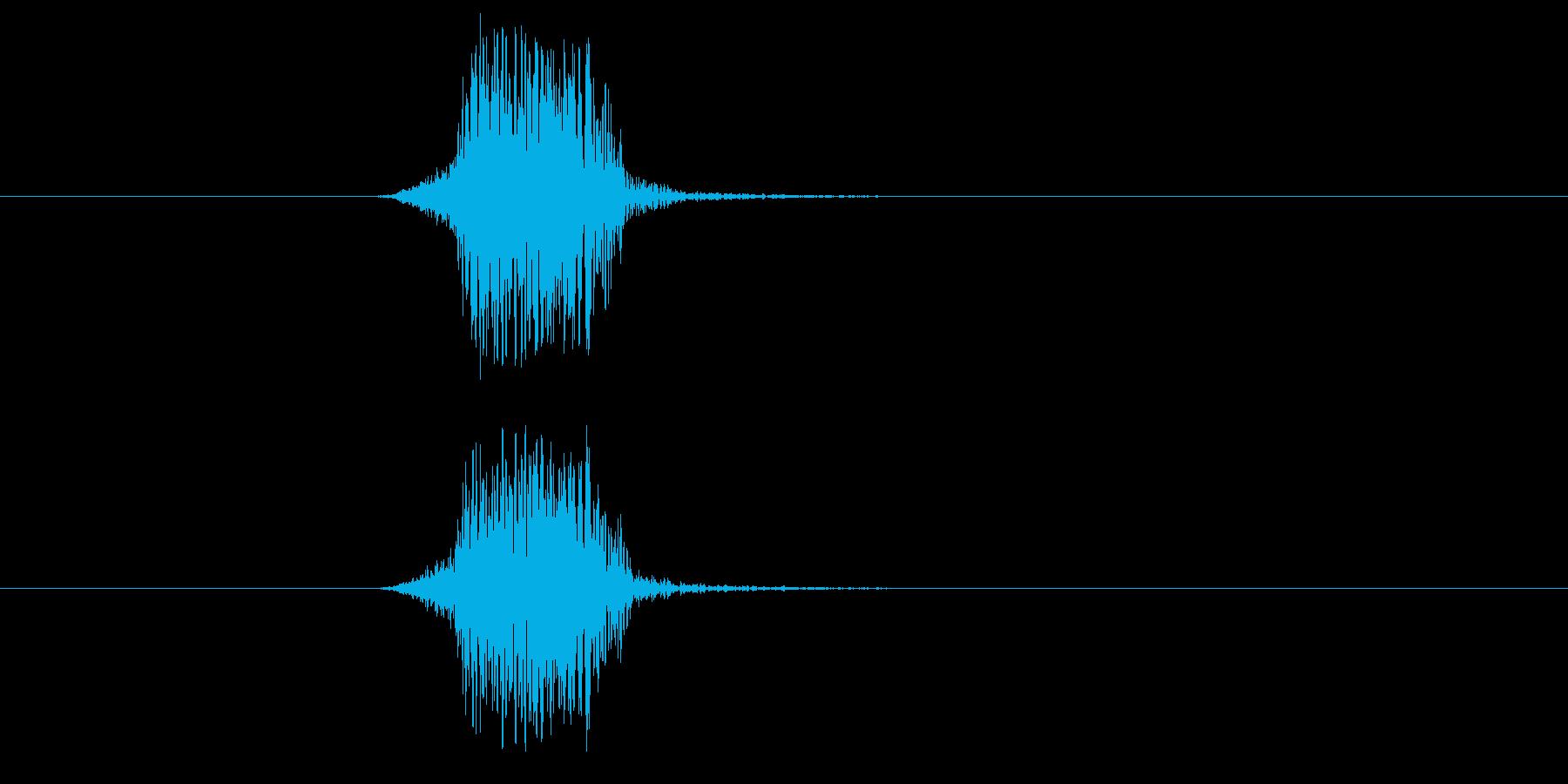 「はっ!」勢いのある和風掛け声-男性3人の再生済みの波形